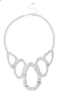 Silver Statement Bib Necklace