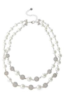 Double Row Pearl Necklace