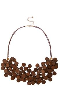 Cluster Wood Circle Necklace