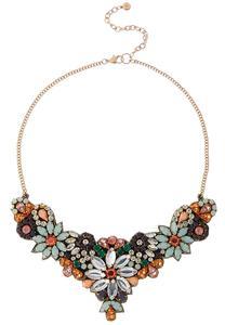 Flower Garden Bib Necklace