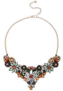 Flower Garden Bib Necklace