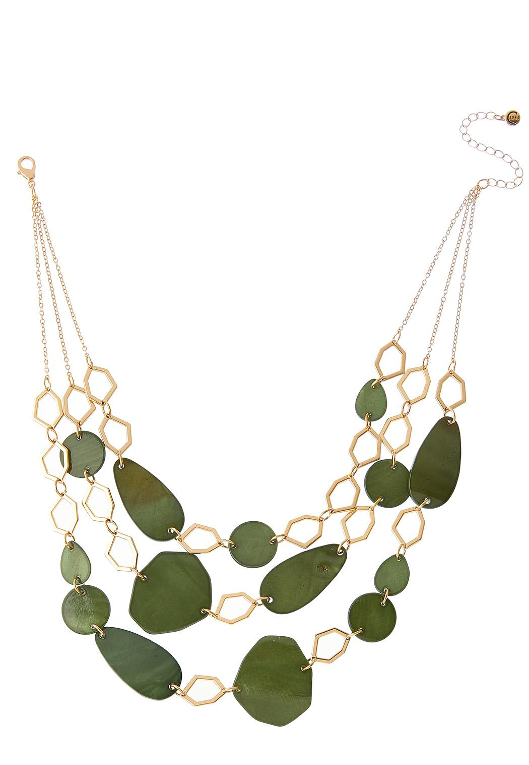 Layered Geo Hoop Shell Necklace