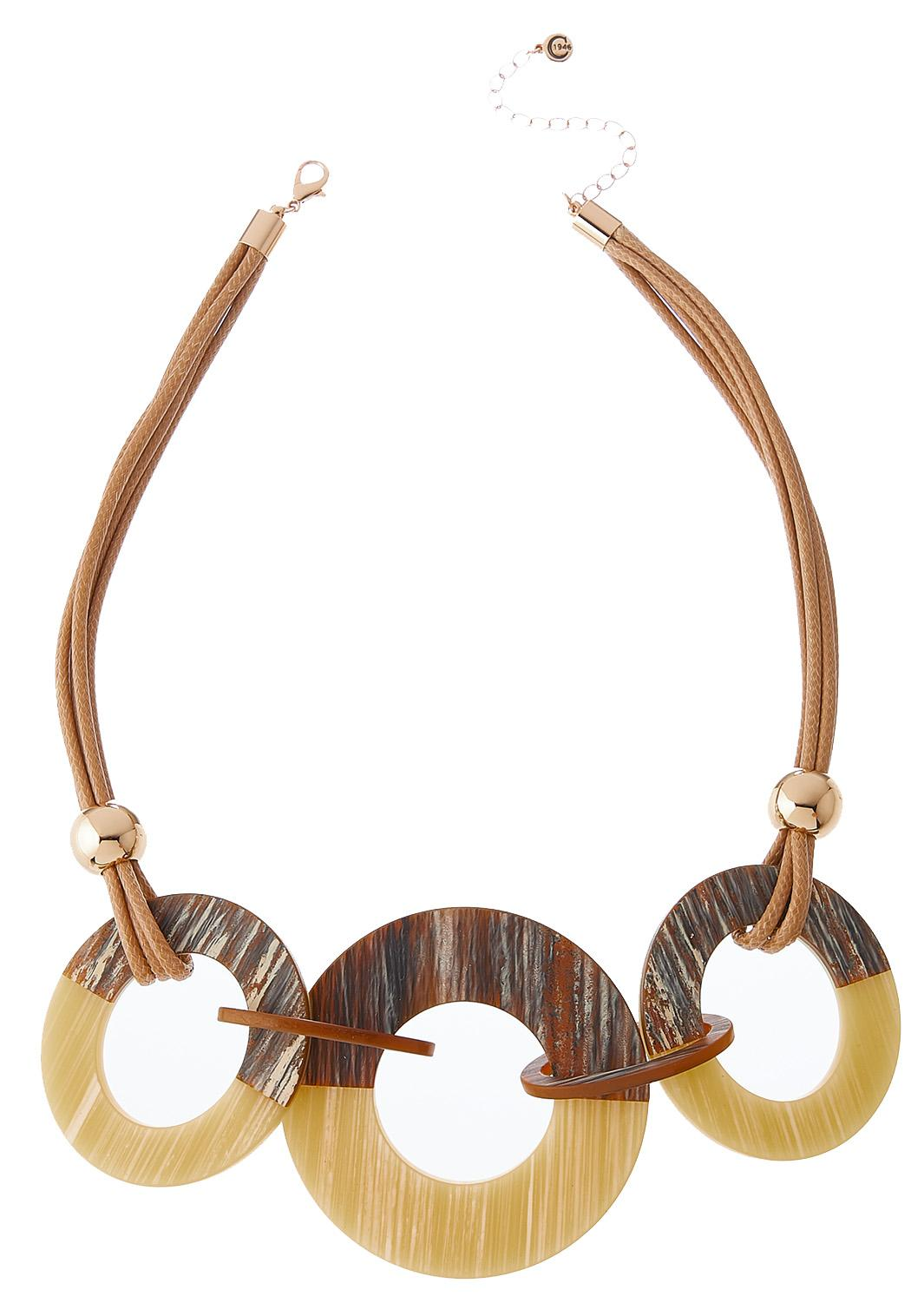 Striped Circle Cord Necklace