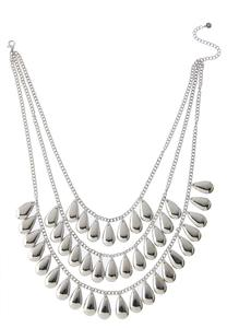 Silver Shaky Layered Necklace