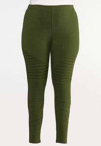 Plus Size Moto Leggings