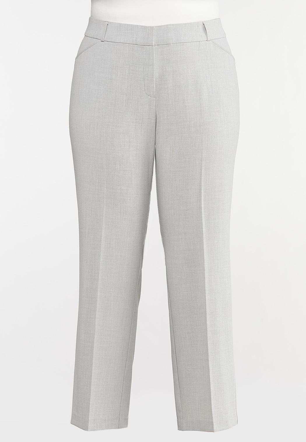 Plus Size Gray Trouser Pants