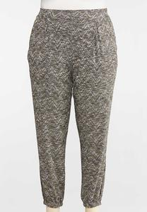 Plus Size Soft Knit Joggers
