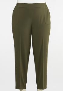 Plus Size Slim Utility Pants