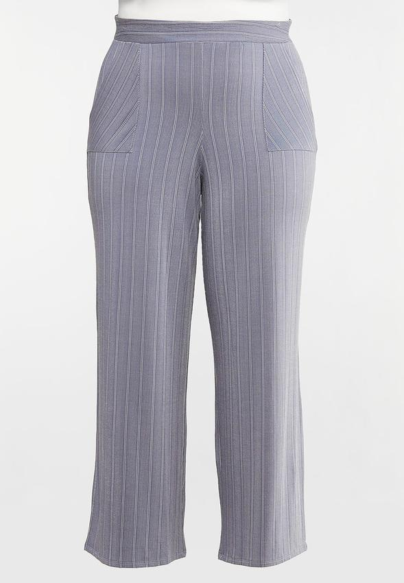 Plus Size Stripe Knit Pants