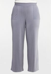Plus Size Stripe Knit Pants