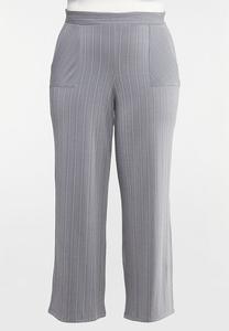 Plus Petite Stripe Knit Pants