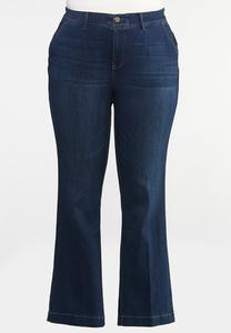 Plus Size Dark Wash Bootcut Jeans