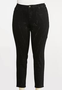 Plus Size Lightening Dye Jeggings