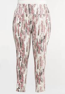 Plus Size Abstract Tie Dye Leggings