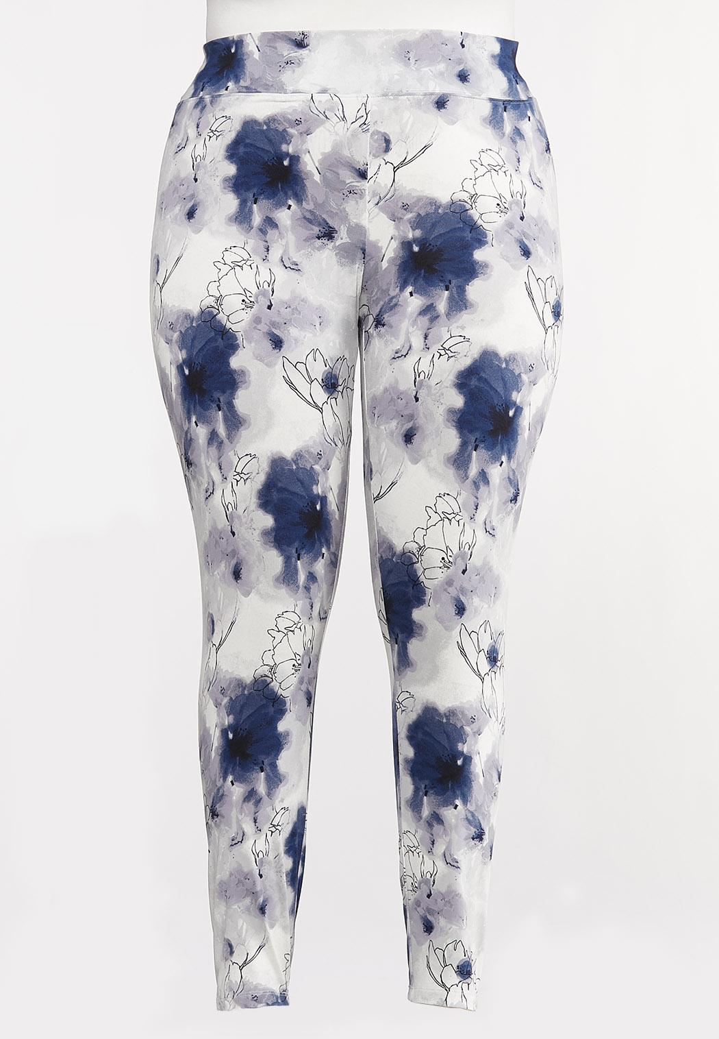 Plus Size Cherry Blossom Leggings