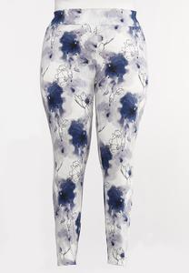 Plus Size Cherry Blossom Leggings