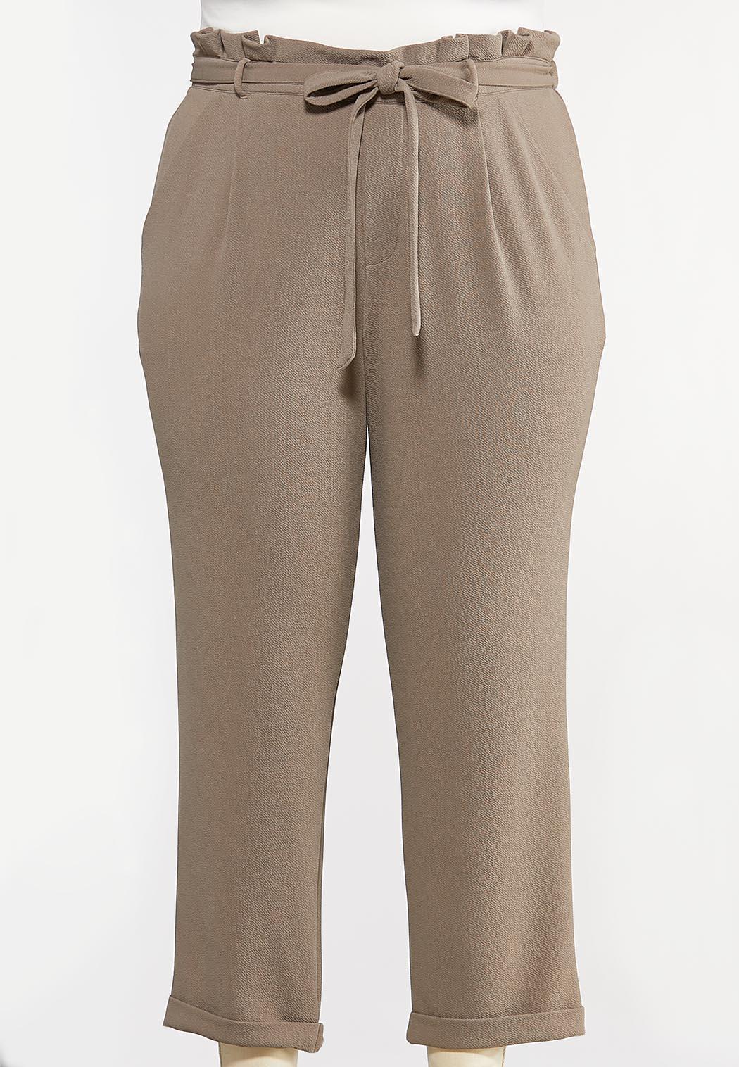 Plus Petite Crepe Paperbag Waist Pants