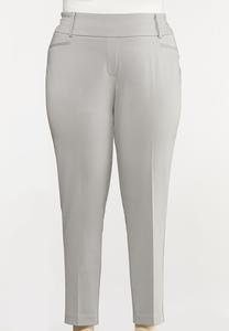 Plus Size Knit Slim Fit Pants