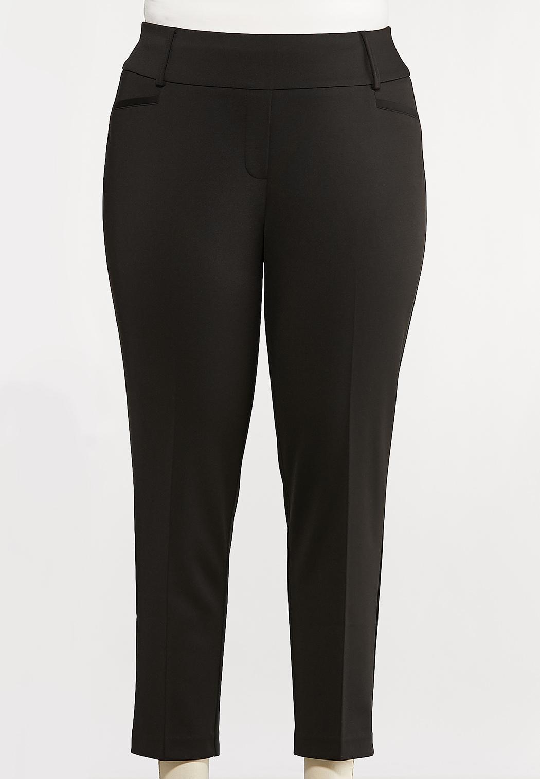Plus Petite Knit Slim Fit Pants