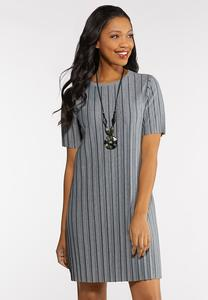 Plus Size Pleated Shirt Dress