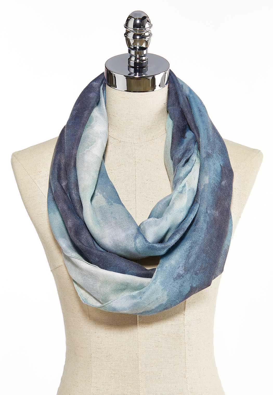 Watercolor Tie Dye Scarf