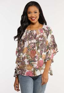 Plus Size Status Paisley Poet Top