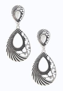 Scroll Textured Clip-On Earrings