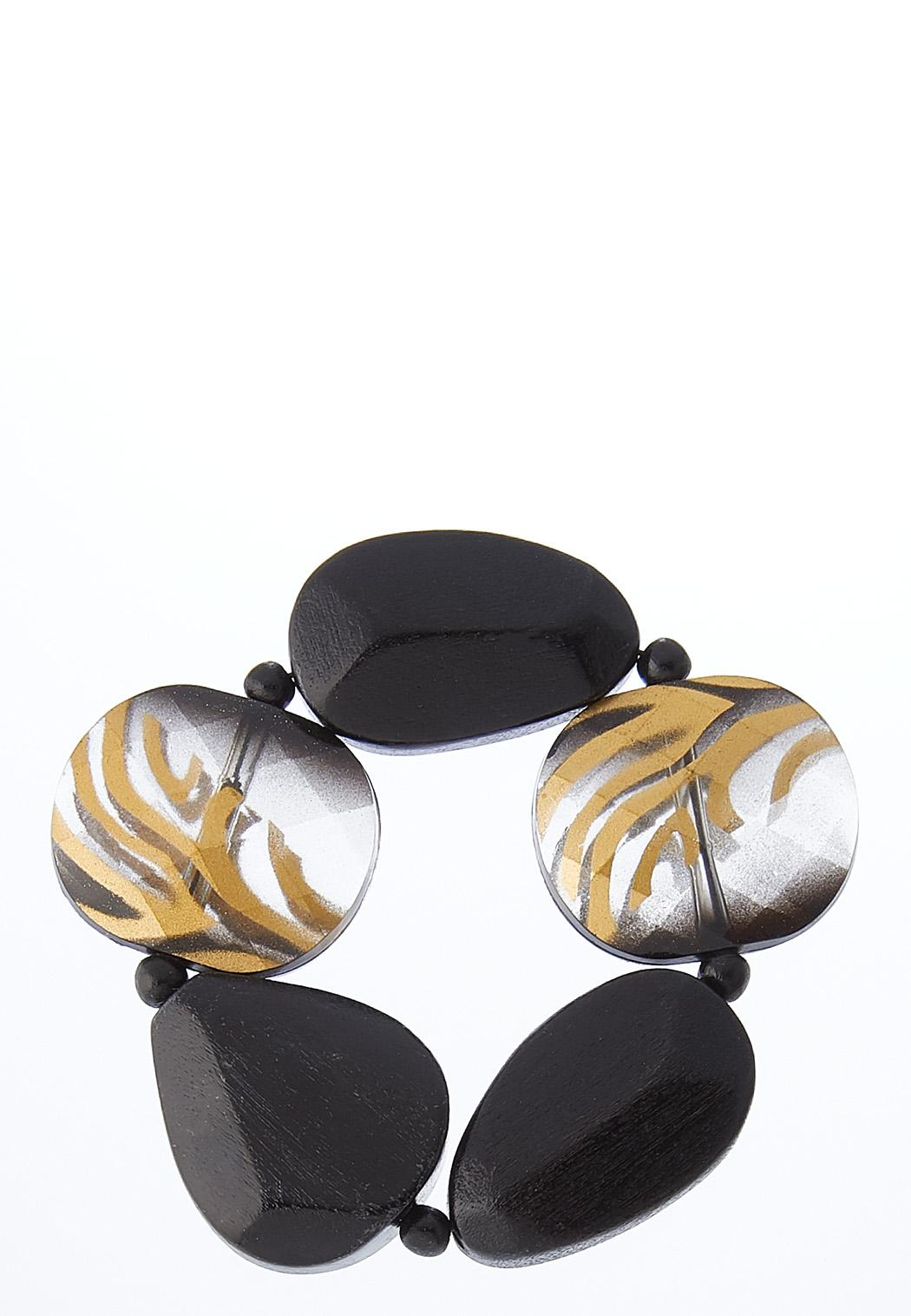 Tiger Stripe Stretch Bracelet