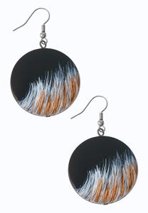 Midnight Breeze Disc Earrings
