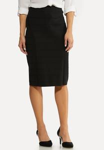 Black Knit Pencil Skirt
