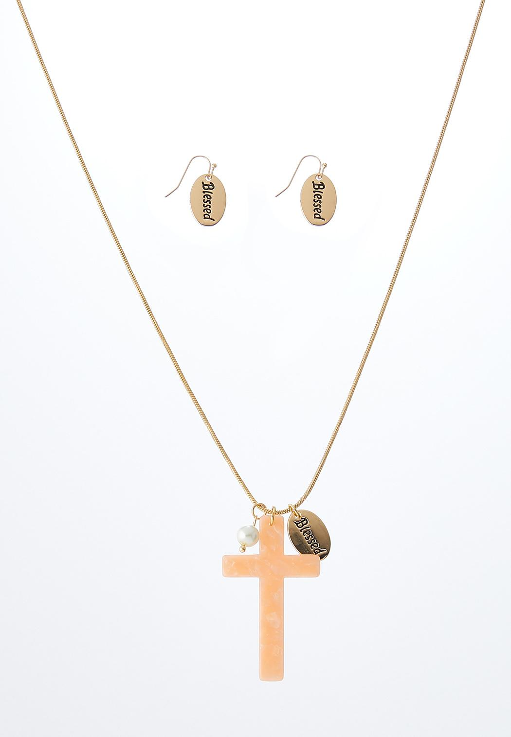 Blessed Necklace And Earring Set