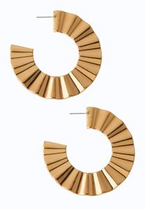 Statement Gold Hoop Earrings
