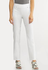White Bengaline Ankle Pants