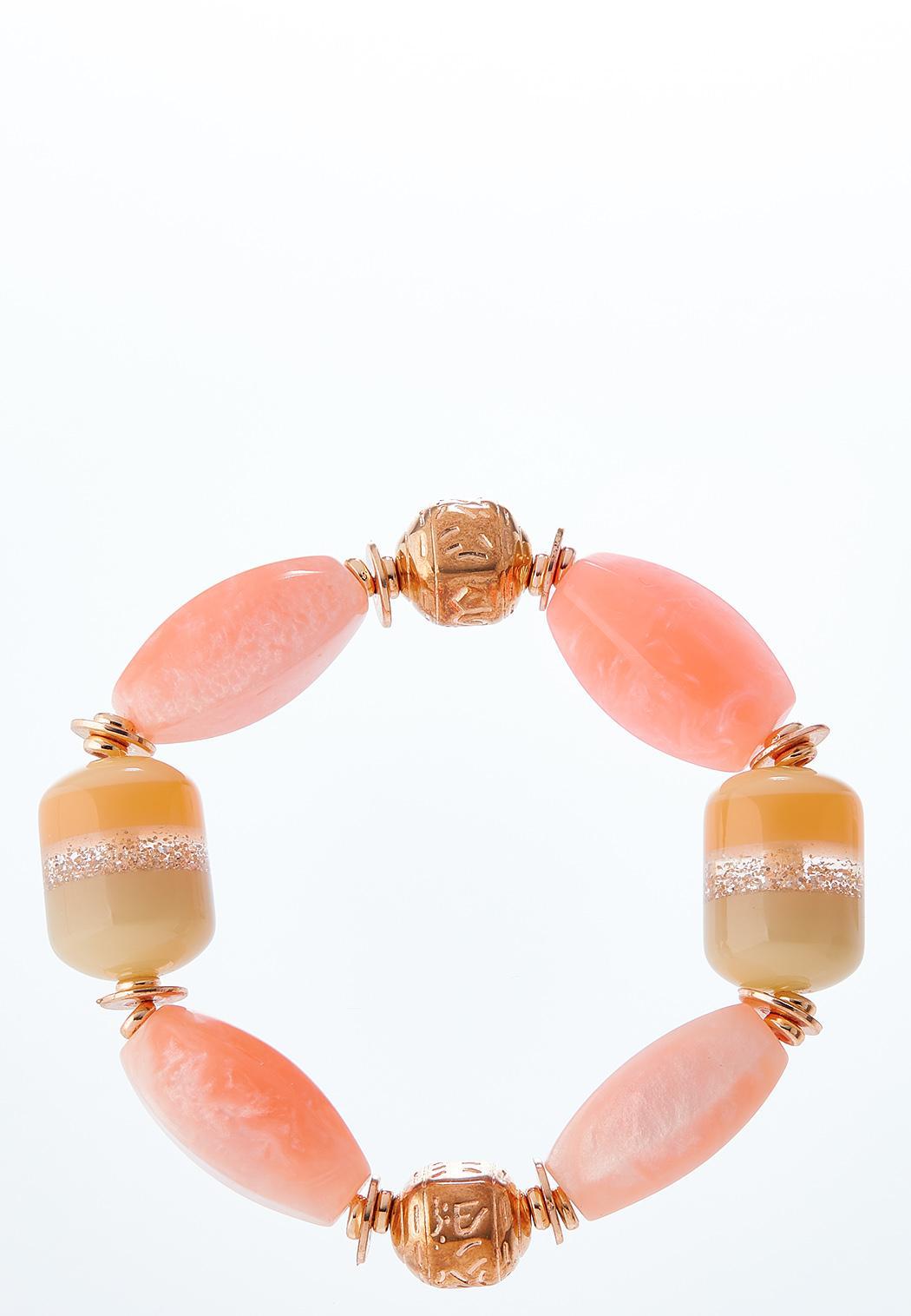 Sparkle And Blush Stretch Bracelet