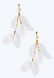 Chiffon Falling Petal Earrings