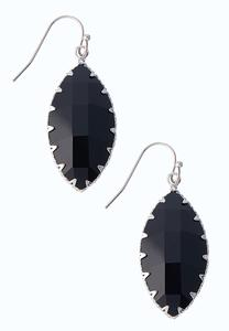 Faceted Oblong Earrings
