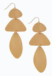 Brushed Metal Gold Plate Earrings