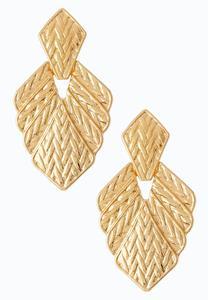 Gold Goddess Clip-On Earrings