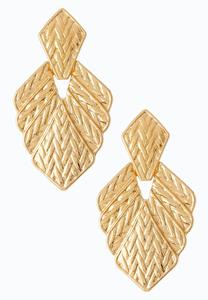 Gold Goddess Clip-On Earrings