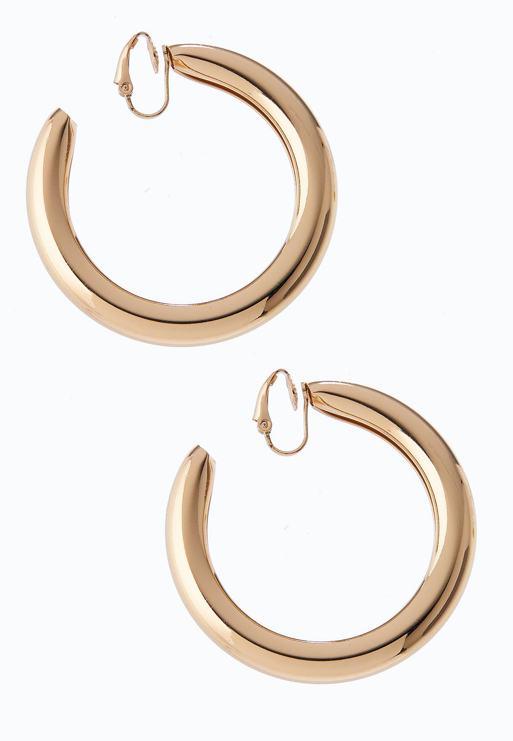 Shiny Gold Hoop Earrings