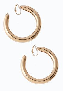 Shiny Gold Hoop Earrings