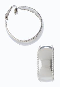 Wide Clip-On Hoop Earrings