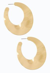 Large Wavy Hoop Earrings