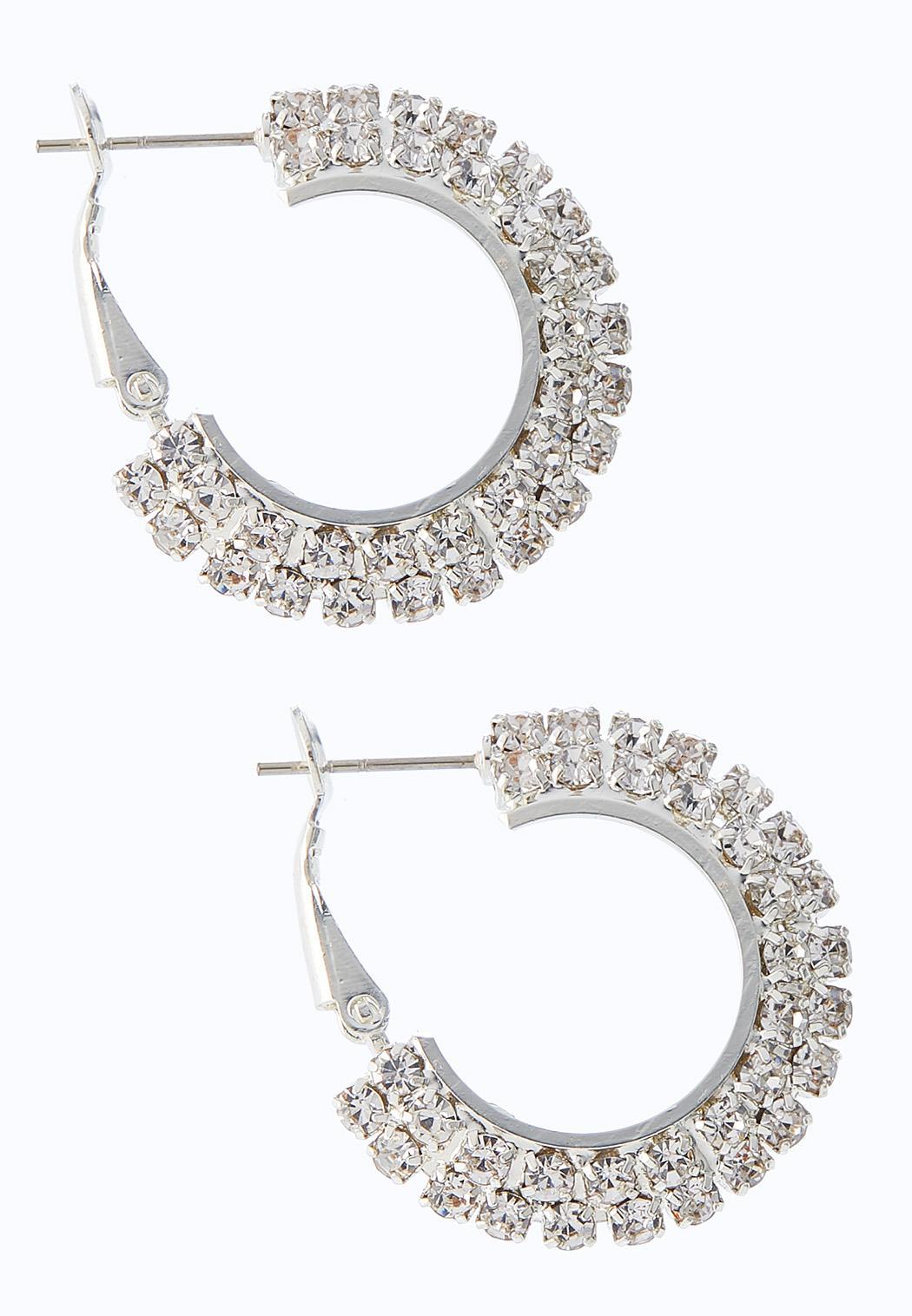 Cupchain Flat Hoop Earrings