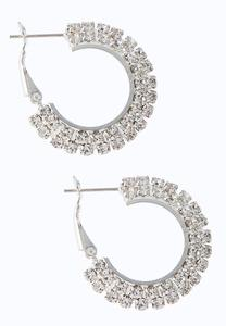 Cupchain Flat Hoop Earrings