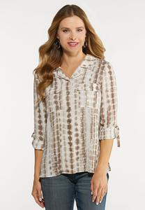 Plus Size Earthy Tie Dye Shirt