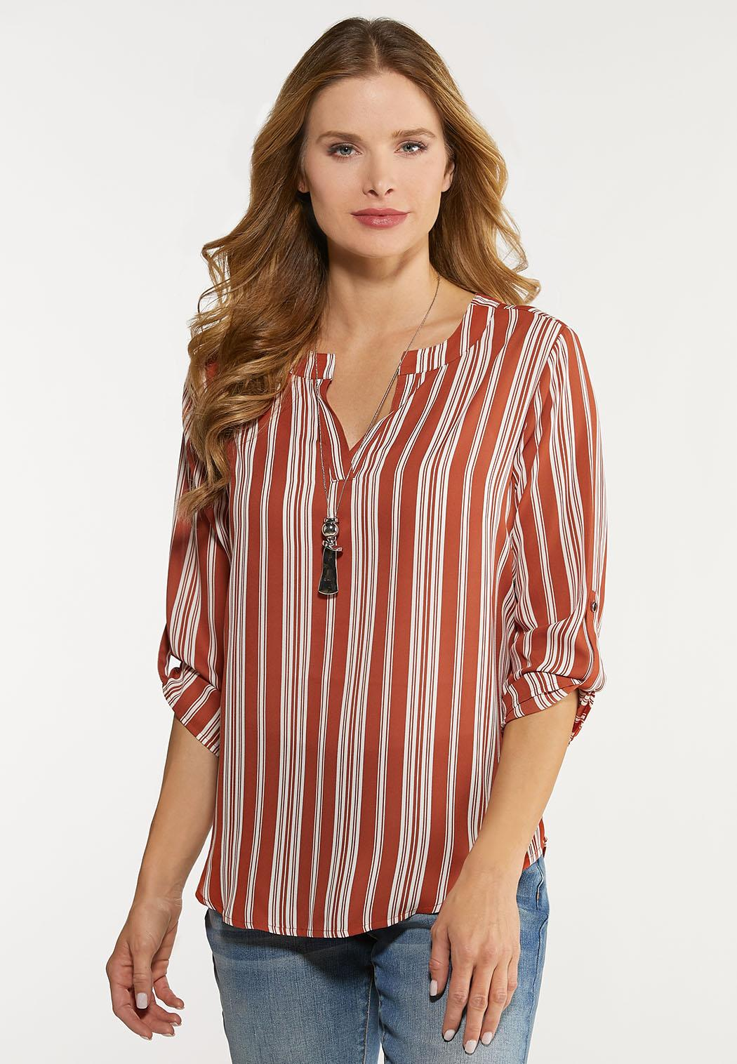 Stripe High-Low Top