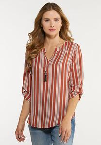 Stripe High-Low Top