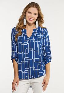 Plus Size Geo Status Tunic Top