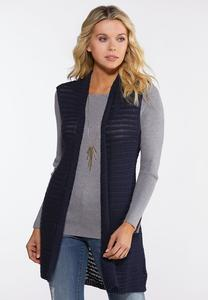 Plus Size Navy Sweater Vest